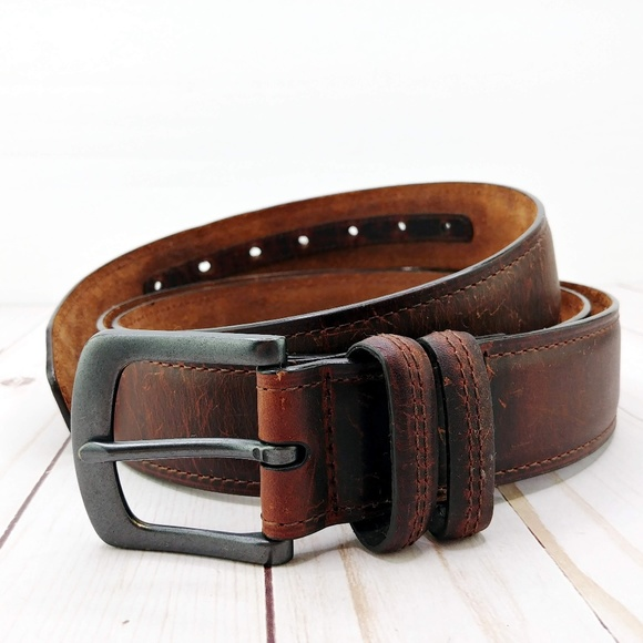 New Men/'s All Brown Belt Size 34-36 Brand New!